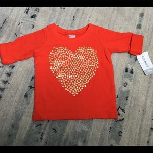 NWT baby bling sweatshirt. Valentines Day